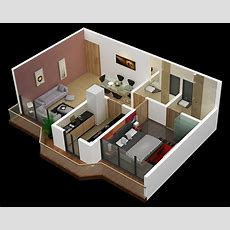 25 One Bedroom Houseapartment Plans