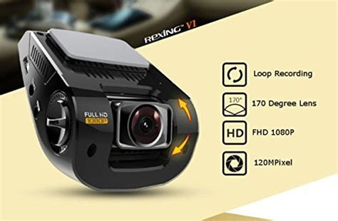 Rexing V1 2.4″ Lcd Fhd 1080p 170 Wide Angle Dashboard