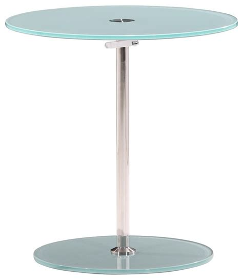 frosted glass end table zuo radical adjustable chrome and frosted glass side table
