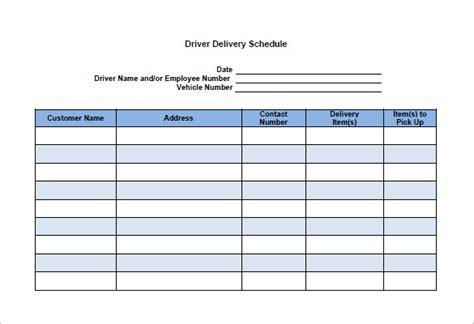 Dispatch schedule template costumepartyrun 13 delivery schedule templates doc pdf excel free maxwellsz