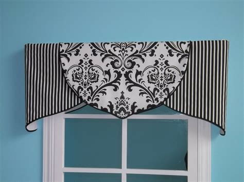 And White Valance by Order Only Black White Damask Tulip Valance Customize Ebay