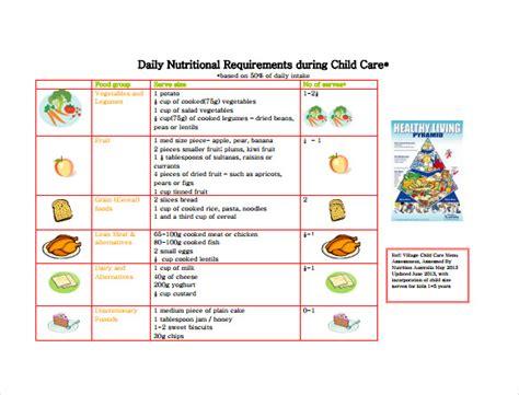 daycare menu templates word psd ai