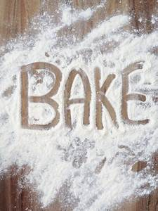 Bake Sale Posters Word Bake In Flour Photographic Print By Neil Overy At
