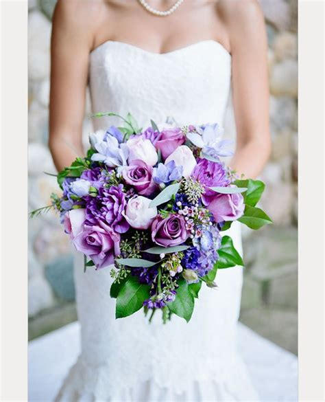 pretty   purple wedding bouquets mon cheri bridals