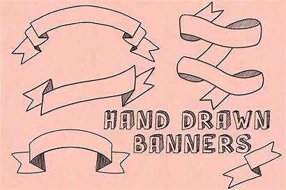 Hand Drawn Banners Banner Sketched Photoshop Shapes