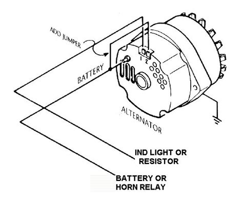 Internally Regulated Alternator External Regulator