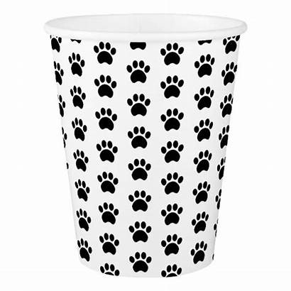 Paper Paw Cups Pattern Prints