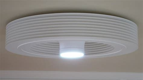 bladeless ceiling fan with led light room illuminating leds now available on our bladeless