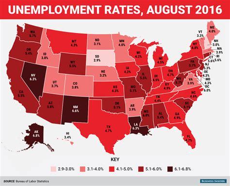 statistics bureau usa august state unemployment rate map business insider