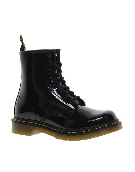 dr martens modern classics 1460 patent 8 eye boots black in black lyst