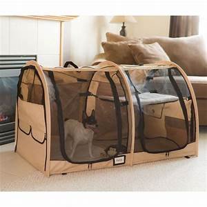 two compartment portable dog kennel and pet home With portable travel dog crate