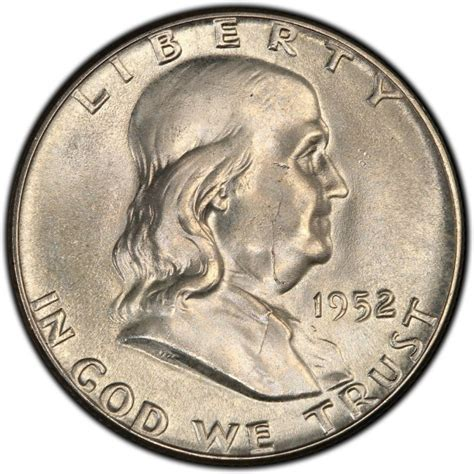 half dollar coin value 1952 franklin half dollar values and prices past sales coinvalues com