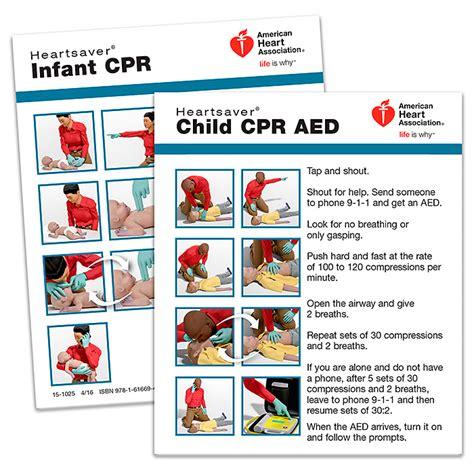 heartsaver child infant cpr wallet card  pk