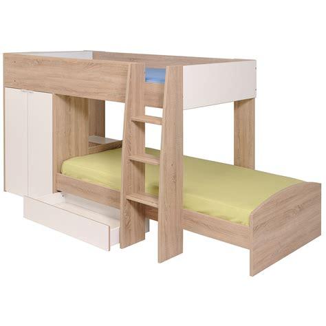 Etagenbett Stim Hochbett Kinderbett Sonoma Eiche Weiß Mit