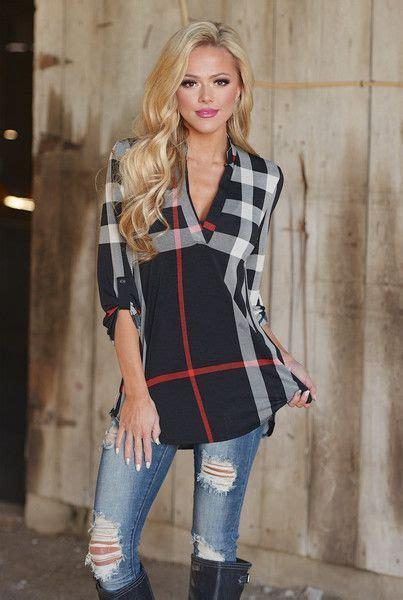 1000 ideas about plaid tunic on tunics tunic
