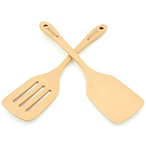 spatula wooden wood utensils spatulas cooking stick turner non eco friendly bamber pack most safe
