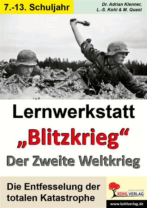lernwerkstatt blitzkrieg der zweite weltkrieg