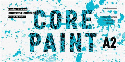 fontspring core paint fonts   core