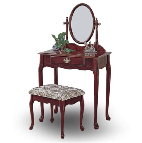 cheap vanity set cheap cherry wood vanity with table bench