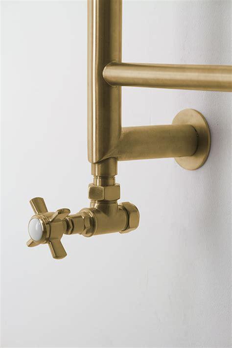 mitred towel rail  brushed  polished gold livinghouse