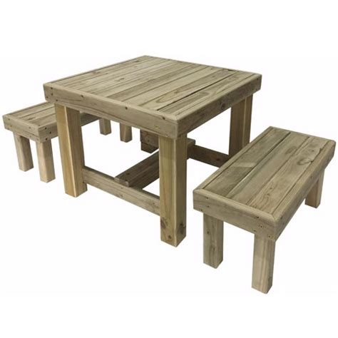 compact table and bench set the pole yard