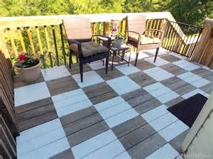 i love that junk stunning painted patio checkerboard
