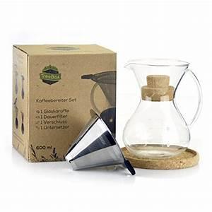 Kaffee Dauerfilter Edelstahl : treebox premium pour over kaffeebereiter set kaffee schonend aufbr hen f r vollen geschmack ~ Orissabook.com Haus und Dekorationen