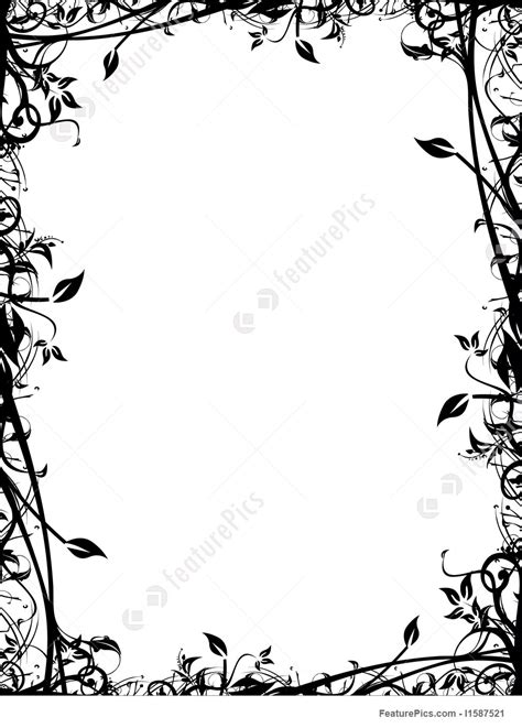 templates abstract vector floral frame stock