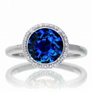 sapphire and diamond halo engagement ring beautiful ring With sapphire wedding rings