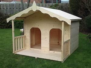luxury double dog kennel summerhouse for 2 medium dogs dog With medium size dog house for sale
