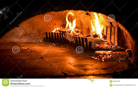 pizza oven  natural firewood coal  flame stock