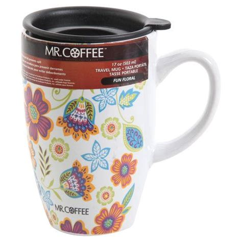Will you be serving hot or cold beverages? Mr. Coffee 17-oz Fun Floral Mug with Lid, Multi-Color: Kitchen & Dining : Walmart.com | Floral ...