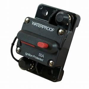 12v Hiamp 50a Manual Reset Circuit Breaker