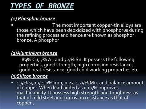 Copper And Its Alloys