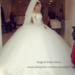 robe pale mariage aliexpress buy saudi arabia sleeve gown wedding dresses 2016 the shoulder