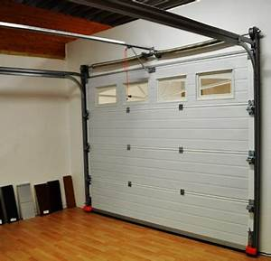 porte de garage sur mesure sectionnelle ou enroulable a With pose de porte de garage sectionnelle