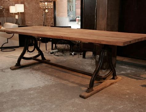 iron dining room table bases vintage dining room table