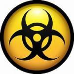 Biohazard Virus Malware Symbol Circle Komputer Ikon