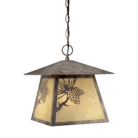 rustic chandeliers pinecone cabin outdoor pendant light