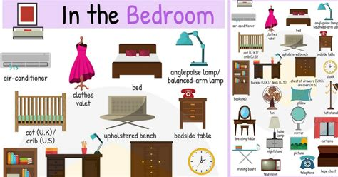 Bedroom Things Vocabulary Spanish Vocabulary For
