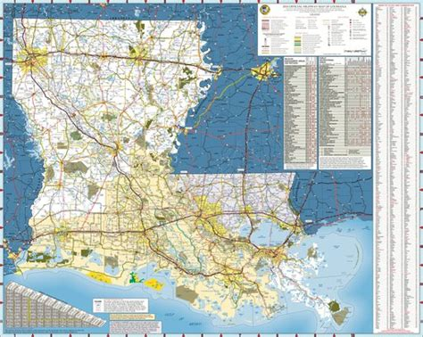 louisiana state highway map maplets