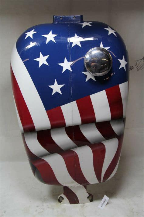 harley fxr  rider fxlr gas fuel tank american flag