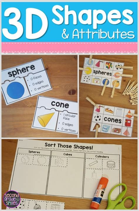 3d shapes attributes on math centers 1st grade