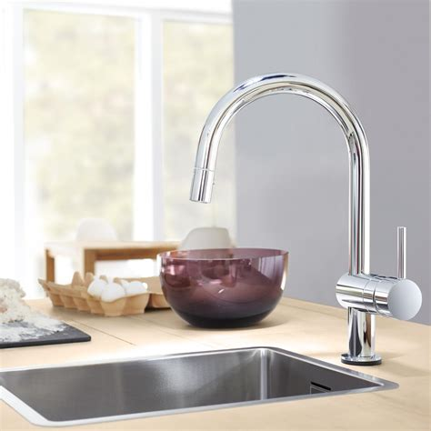 touch activated kitchen faucet grohe 31359dc0 minta touch activated electronic single