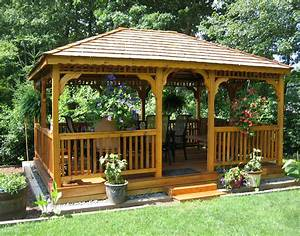 Gazebos wooden garden shed plans compliments of build for Backyard sheds and gazebos