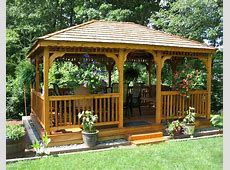 Red Cedar Single Roof Rectangle Gazebos Gazebos by Style