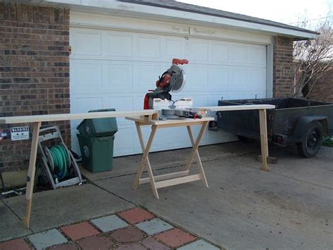 portable chopsaw stand wooden miter  stand