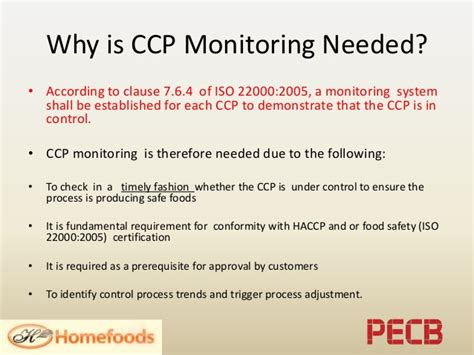 ccp cuisine design of ccp monitoring programs in food safety