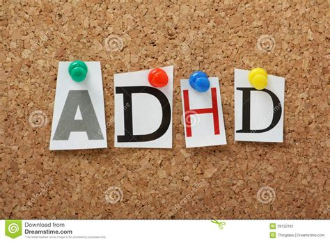 adhd stock image image  letters abbreviation