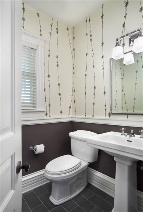bathroom design chicago hyde park renovation transitional powder room